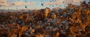 I mean, YES, the blue butterflies were VERY pretty, but did we really need to spend THAT long watching Bilbo giggle over them?