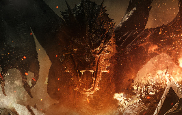 Random Movie Review: The Hobbit: Battle of the Five Armies ... Smaug Benedict Cumberbatch The Hobbit