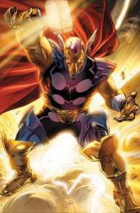 A Past and Present Thor, as of the Thors Secret Wars book