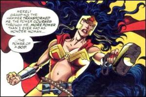 Wonder Woman. From the Marvel/DC crossover event